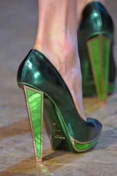 YSL high-heel shoes.