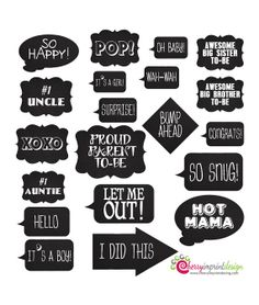 20 Hilarious Chalkboard Baby Shower Photo by CherryImprintDesign, $2.98