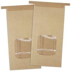 Brown Window Tin Tie Bakery Bags 1lb - Layer Cake Shop
