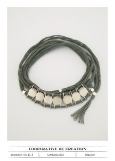 Bracelet silver & cotton #cooperativedecreation #bracelet #silver