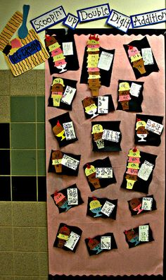 Step into 2nd Grade with Mrs. Lemons: A few finished projects...bulletin board following addition with regrouping unit