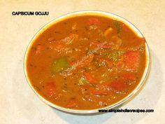 Capsicum Gojju - Bell Pepper Curry   Simple Indian Recipes