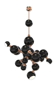 A contemporary descendant of retro sphere lighting, Atomic sputnik chandelier is a modern interpretation of the atomic age design.