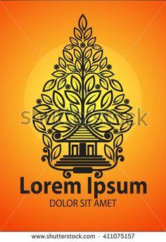 Vector Modification of Gunungan or Tree of life - stock vector Branding Design, Logo Design, Lorem Ipsum, Royalty Free Images, Cirebon, Stock Photos, Ox, Abstract, Puppets