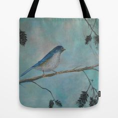 NEW! Bluebird of Happiness Tote Bag by RokinRonda - $22.00
