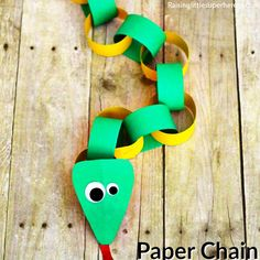 10 atividades de artes fáceis de fazer com as crianças - cobra de argola