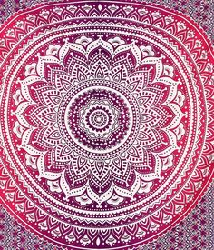 Tagesdecken - Plum & Bow indische Mandala Gobelin für Wan... - ein Designerstück von IndianCraftPalace bei DaWanda