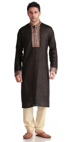 Rich Black #Silk #Kurta