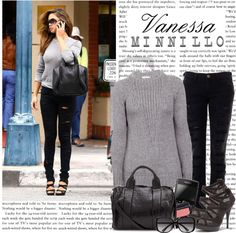 """1253. Celeb Style : Vanessa Minnillo (12.01.2011)"" by munarina ❤ liked on Polyvore"