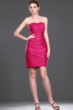Elastic Satin Sleeveless Pleated Bodice Sheath Hourglass Spring Taffeta Mid Back Cocktail Dress