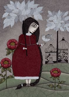 Winterbird or Hope is a Thing With - Illustrations by Judith Clay  <3 !