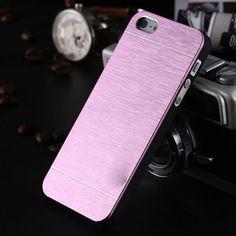High Quality !! New Luxury Aluminum Metal Brush Case For iphone 5 5S 5G Hard Phone Back Cover Motomo Logo SGS03883