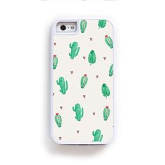 Small green cactus open pattern for iPhone 6