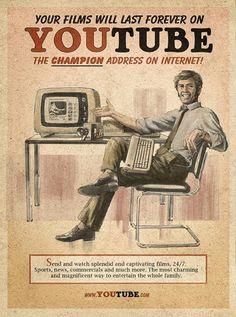 Poster vintage pour youtube.