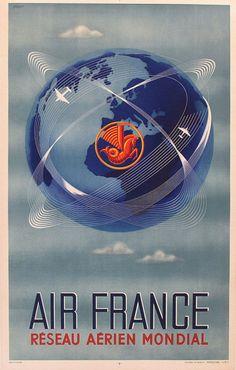 Air France Around the Globe ~ Perceval