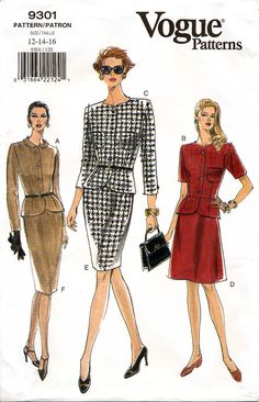 Vogue 9301 Misses' Top and Skirt Sewing Pattern  by retrowithlana
