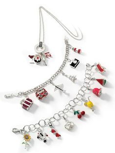 Fashionable, chic, and popular charms. Pin it to view this amazingly fun jewelry charms collection. Charm Jewelry, Charm Bracelets, Mini Things, Silver Enamel, Bowling, Custom Jewelry, Brooch Pin, 3 D, Gems