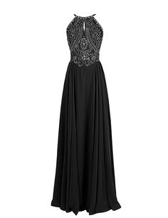 Dressystar Long Chiffon Prom Dress Spaghetti Straps Crystal Beaded Evening Gowns: Amazon.ca: Clothing & Accessories
