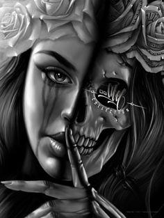 OGABEL.COM - Half-Skull Poster, $9.95 (http://www.shopogabel.com/products/Halfskull-Poster.html)