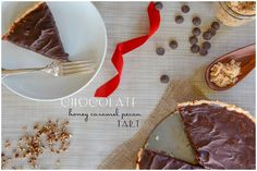 Chocolate Honey Caramel Tart Recipe with Amy at AHLFM perfect for Christmas or New Years or just because you are you! #chocolate #caramel #pecans #tart #dessert #holiday #recipe