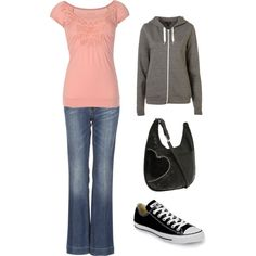 24, created by #shelaelae on #polyvore. #fashion #style TOM TAILOR #Converse