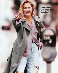 """""""Lauren Hutton's Shopping Spree"""", Lauren Hutton by Gilles Bensimon for Elle US, February 1994"""