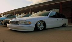 """wagonation: """"groundclearance: """" I'm normally not crazy about smoothies or moons on newer cars, but they frickin work on this Caprice wagon! """" so low, so long, so white """""""