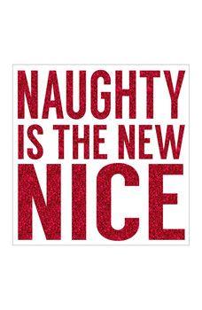 "Sixtrees - Naughty is New Nice Wall Decor - 4"" x 4"""