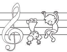 #music coloring pages for #kids reading music #piano #teaching #preschool #kindergarten #homeschool