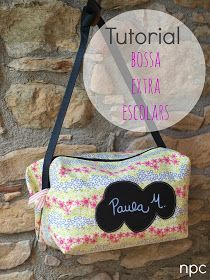No paris de cosir...: TUTORIAL bossa extraescolars