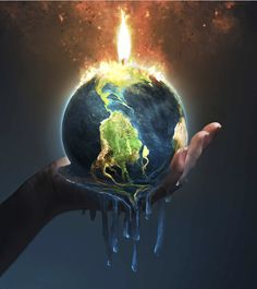 The climate change fuse is lit. We must act now, or we may not be able to prevent the worst health consequences of climate change. Earth On Fire, Earth Day, Planet Earth, Save Earth Drawing, Earth Drawings, Earth Poster, Wie Zeichnet Man Manga, Save Our Earth, Plakat Design
