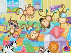 Five Little Monkeys Sing Along Puzzles We are expanding our puzzle selection! Puzzles can be used to promote the development of fine motor skills, association, task completion, and independent play. Monkey Jump, Monkey 3, Five Little Monkeys, Jigsaw Puzzles For Kids, Kids Blocks, Hidden Pictures, Flannel Blanket, Edge Stitch, Plush