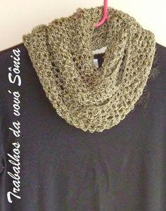 Trabalhos da vovó Sônia: Gola fio de seda - tricô