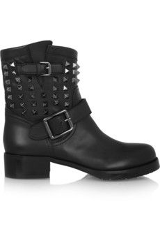 Valentino Studded leather biker boots   NET-A-PORTER http://bit.ly/1mBaz5Y