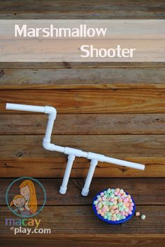 "Instructions for making Marshmallow Shooters. Plus fun ideas of what to do with them. - for activity day camp, link the idea to ""hitting the target"" or following instructions?"