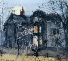 J. A. Fitzgerald, The Old House, Fairies by Moonlight. 1875