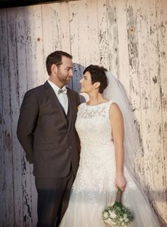 Rustic barn wedding with the beautiful Alex and Chris. Peter Trends Bridal real life brides