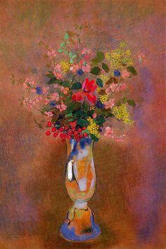 "Odilon Redon ""flower of blue vase"" Circa 1912-14 pastel"