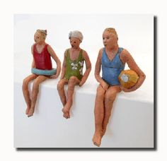 Artist: Linda Lewis, Title: Shelfsitters-Swimmers