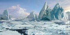 Bilderesultat for painting iceberg
