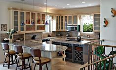 Small Kitchen Ideas - Granite/ Ivory/ Tropical - February Point Resort