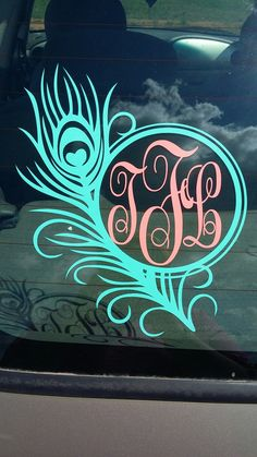 Shop Monogram Car Decal On Wanelo Cricut Crafts Pinterest - Monogram decal for car