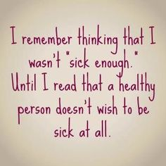 Summer healthy people don't wish to be sick eating disorder recovery
