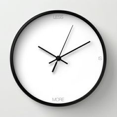 LESS Wall Clock by THE USUAL DESIGNERS - $30.00