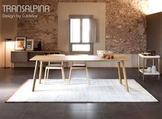 Table extensible TRANSALPINA TRA 101, Hêtre, 150-230x90 cm, Design by CulDeSac