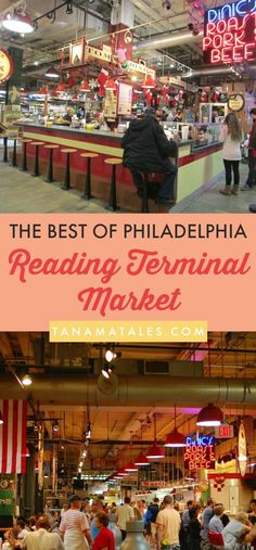 Things to do and places to visit in Philadelphia, Pennsylvania – The historic Reading Terminal Market has over one hundred merchants selling fresh produce, meat, artisan cheese, baked goods, ice cream, flowers, ethic foods and much more. From cheesesteak that have to be ordered under the Liberty Bell to Dutch and Amish specialties to turkey tails (hmmmm), this place is a must for those who want to learn more about the spirit of Philadelphia.