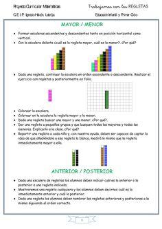 SECUENCIA DIDÁCTICA REGLETAS DE CUISENAIRE-5 Numicon, Bar Chart, Let It Be, Math, Reading, Montessori, Doors, Ideas, School