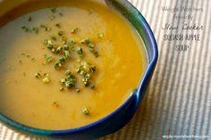 Slow Cooker Squash Apple Soup | Weight Watchers Friendly Recipes