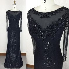 Black Prom Dress,Mermaid Prom Dress,SequinedProm Gown,Sequins Prom Dresses,Sexy Evening Gowns,Evening Gown,Evening Gowns With Long Sleeves For Teens