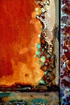 Rust by LuAnn Ostergaard Painting Inspiration, Color Inspiration, Rusted Metal, Peeling Paint, Abstract Photography, Texture Photography, Textures Patterns, Decay, Art Projects